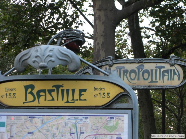 Bastille Metro, Paris, France