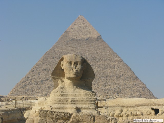 Sphinx and Khafre Pyramid, Giza, Egypt